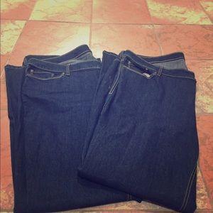 Bundle of 2 NWOT Old Navy plus boot cut jeans long